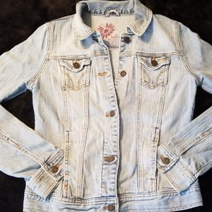Hollister blue jean jacket